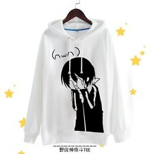 Anime Noragami Cosplay Unisex Casual Jacket Sweatshirt Hoodie Coat Long Sleeve