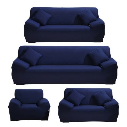 Fashion Solid color Elastic Sofa Cover Set Couch Stretch Armchair 1 2 3 4 Seat
