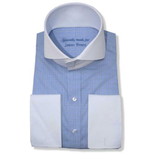 Spacco Collo 3 Alto Banchieri Bianco Buttons Colletto Con Uomo Camicie Blu Aw0CdAq