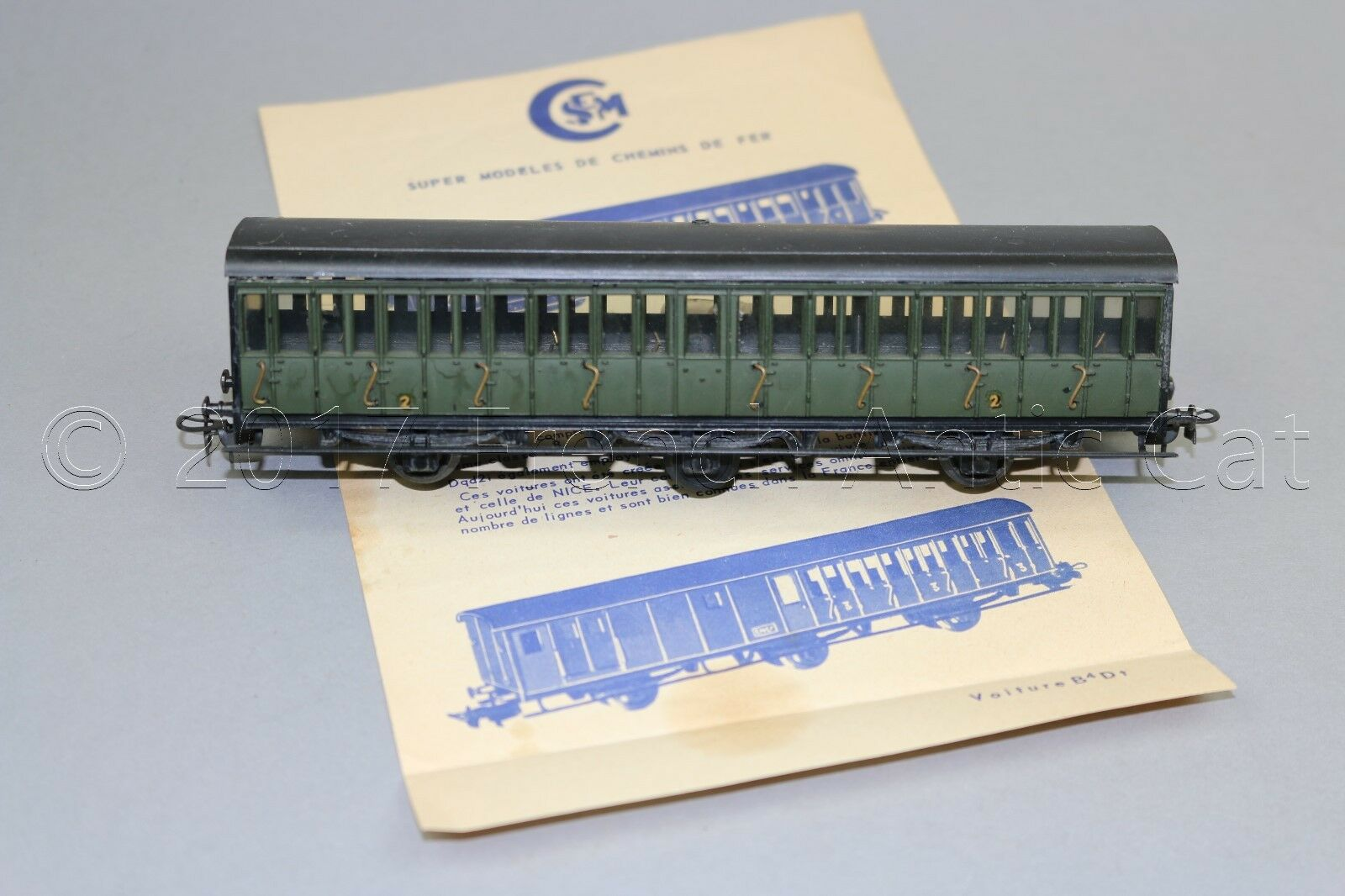 Y408 smcf train oh old car door traveller b8t 2 laterale class 172 mm