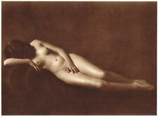 1920's Vintage Prague Female Nude Model Hess Art Deco Photo Gravure Print