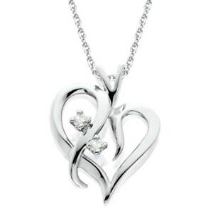 Heart-Shape-Genuine-Diamond-Pendant-High-Polished-White-Gold-1-2-034-Tall