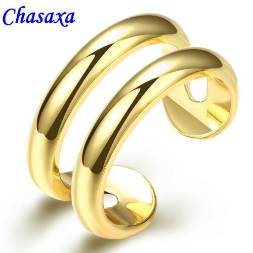 Finger or Toe Ring - Gold Plated Twin Band Fully Adjustable Gold Toned Rings