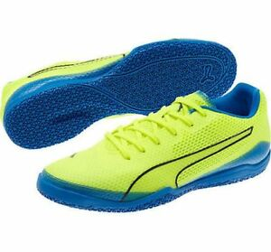 af50d30a5 PUMA Invicto Fresh Men s Indoor Soccer Shoes Blue Lemonade 103631 06 ...