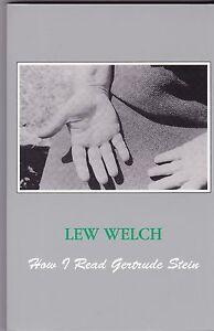 BEAT-POET-LEW-WELCH-034-HOW-I-READ-GERTRUDE-STEIN-034-LITERARY-CRITICISM-ESSAYS