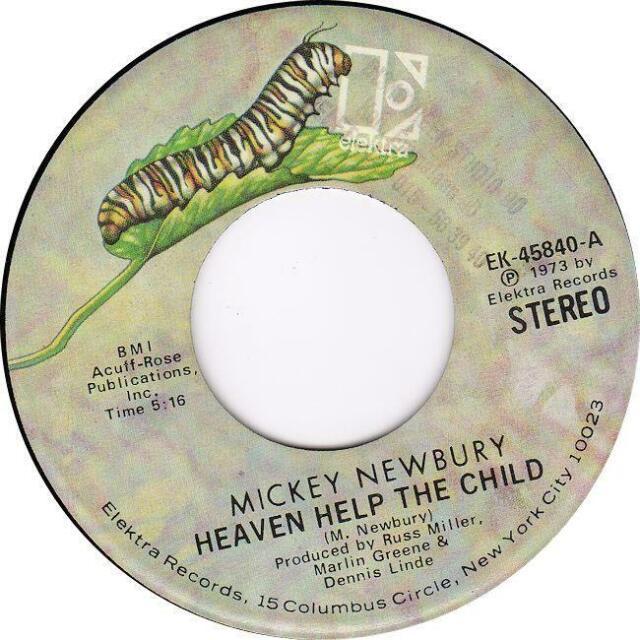 MICKEY NEWBURY Heaven Help The Child/ 1973 or. US single EX vinyl!