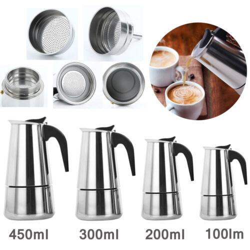 Portable Filter Stove Top Mocha Coffee Pot Moka Italian Espresso Coffee Maker