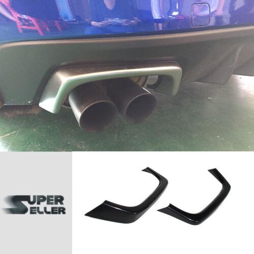 Painted for SUBARU WRX STI Exterior Rear Exhaust Pipe Cover Trim 16-19 2pcs