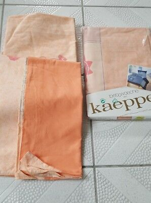 Bettwäsche Von Kaeppel In Zarten Farben 1,35 X 2 M 1 X Neu Und 1 X Gewaschen Bettwaren, -wäsche & Matratzen