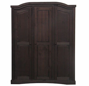 3 t riger kleiderschrank rico kiefer massiv schlafzimmer schrank m bel kolonial ebay. Black Bedroom Furniture Sets. Home Design Ideas