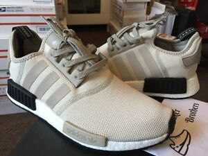 25ef4763d32b Details about Adidas NMD R1 Runner Nomad Boost Tan Off White Cream Khaki  Core Black S76848
