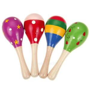 Baby Kids Sound Music Gift Toddler Rattle Musical Wooden Colorful Toys G