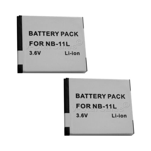 2X NB-11L Replacement Battery and USB Dual Charger f// Canon A3400 4000 2300 2400