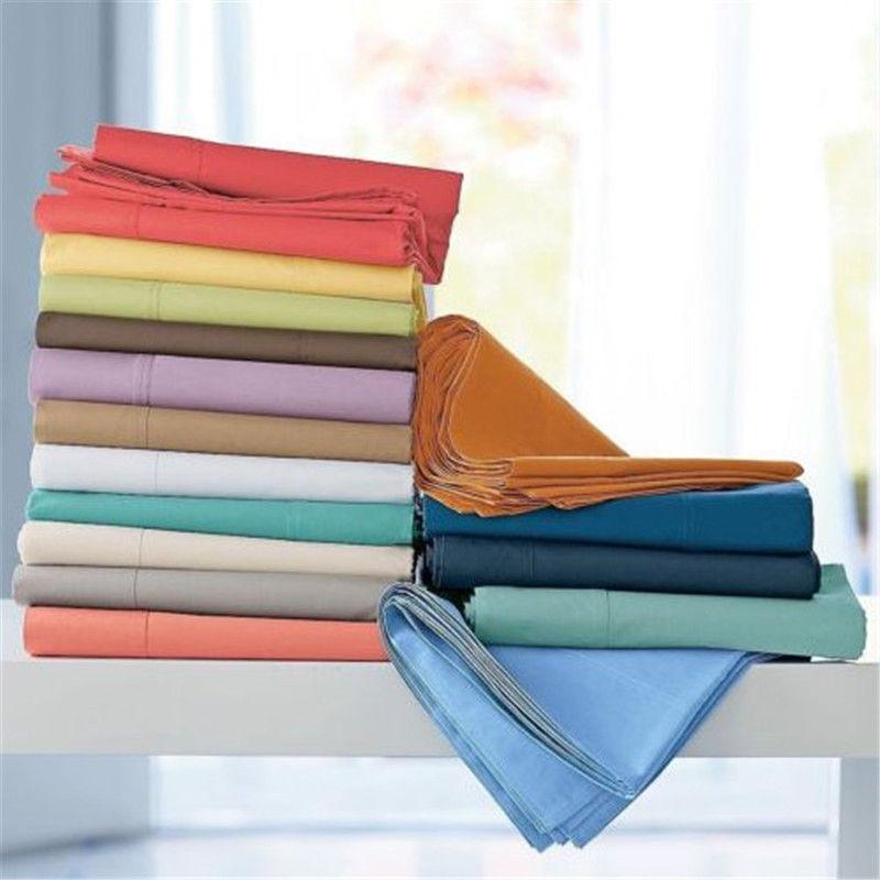 4 PC Bedding Sheet Set 1000 TC Egyptian Cotton 34X75 Bunk Size & Solid Stripe