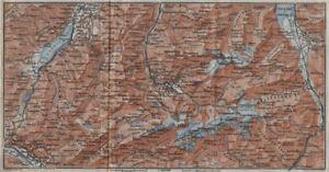 Art Prints Engelberg Environs Uri/urner Alps Titlis Blackenstock Sarnen Altorf 1928 Map Carefully Selected Materials