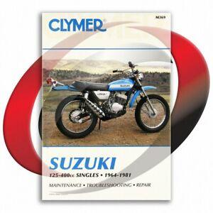 1964-1976-Suzuki-TC125-Repair-Manual-Clymer-M369-Service-Shop-Garage