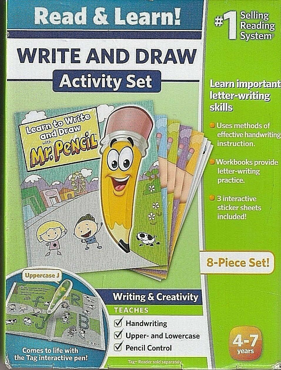 NEW LEAP FROG Read & Learn Write & Draw Activity Set 8 Piece Set Tag Reading