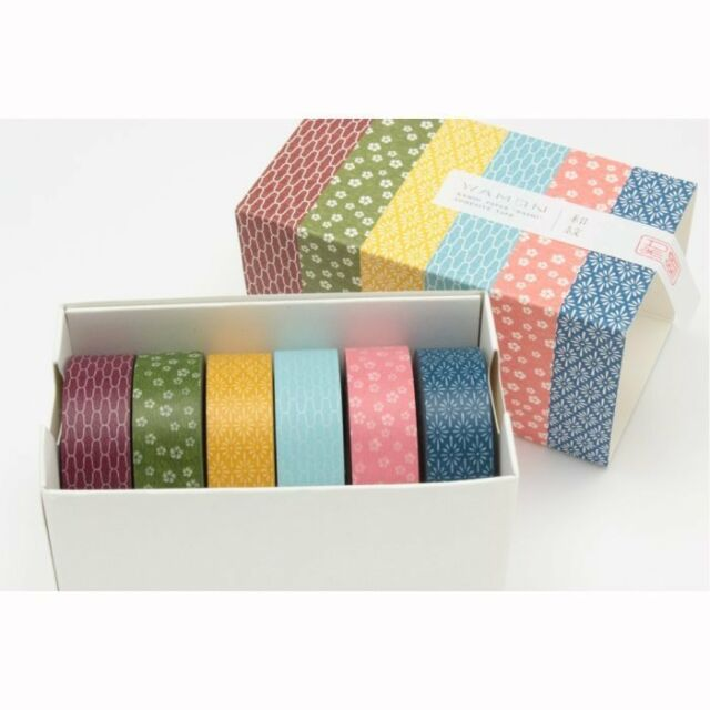 mt Washi Masking Tape WAMON3 6 design set 6pcs/set 15mm x 10m  MT06D003
