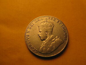 Canada-1926-Near-6-Rare-5-Cent-Coin-ID-B
