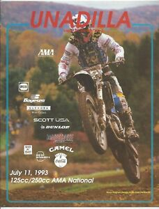 Vintage Unadilla Nationals 1993 AMA Motocross Program Steve Lamson Honda