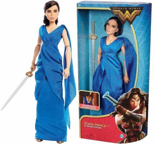 "3 Wonder WOMAN MOVIE DIANA PRINCE HIDDEN SWORD 12"" BARBIE ACTION DOLL NEW!"
