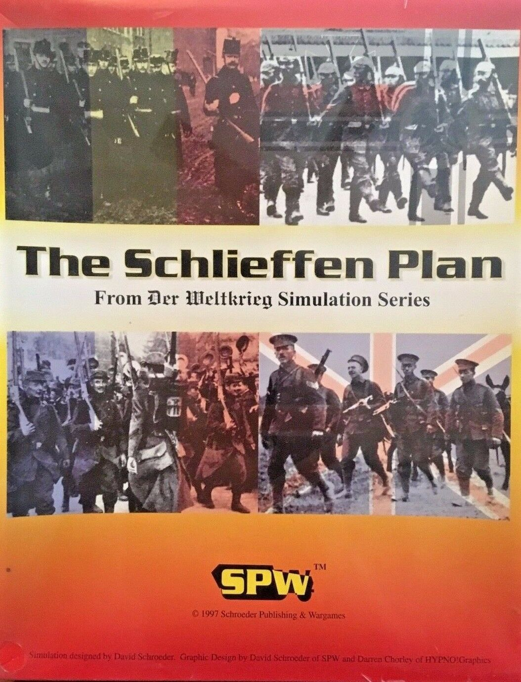 Board Game The Schlieffen Plan SPW Factory Sealed