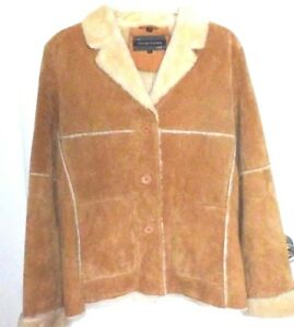 Details zu MICHEAL MICHELLE WOMEN'S RANCH STYLE SUEDE LEATHER COAT, HONEY, SIZE LARGE