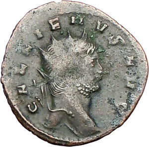 GALLIENUS-son-of-Valerian-I-Ancient-Roman-Coin-Antelope-i26206