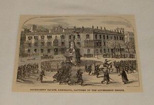 1879-small-magazine-engraving-GOVERNMENT-SQUARE-Barcelona-Spain