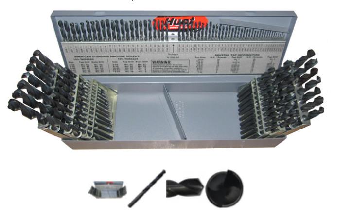 Drill America DWD115J-SET 115 PCS Drill Set,  1-60 Wire Größes, High Speed Steel