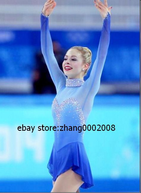 Competition Ice skating dress.2019 bluee Stunning Twirling  Figure Skating dress.  for sale online