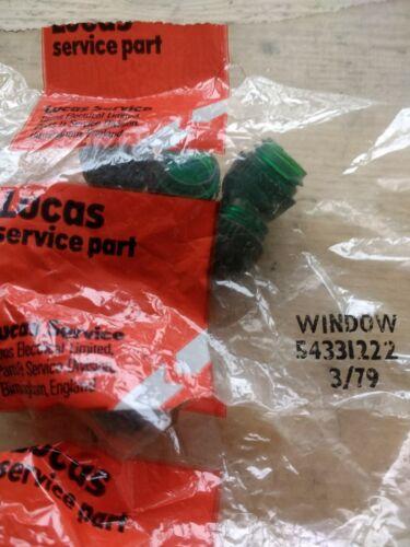 LUCAS MORRIS MINOR MK1 MINI WOLSELEY 6//110 15//60 16//60 GREEN INDICATOR STALK CAP