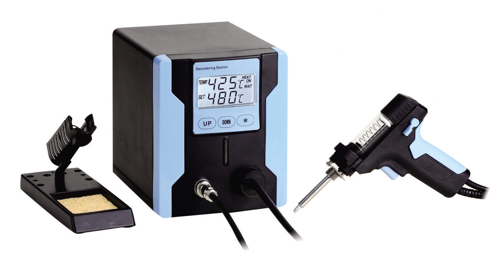 FR-PHONECASEONLINE LEAD FREE DESOLDERING STATION WITH LCD PANEL ZD-8915 Blau110V
