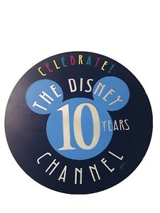 "VTG DISNEY CHANNEL 10th ANNIVERSARY THEME PARK 20"" SIGN RARE!"