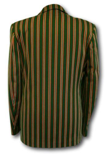 Boating Wool Worsted Venetian Stripe Blazer Green Red /& White School Uniform