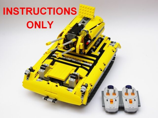 Lego Technic 8043 Custom Building Instruction Tank Ebay