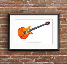 Carlos Santana's PRS prototype guitar ART POSTER A2 size