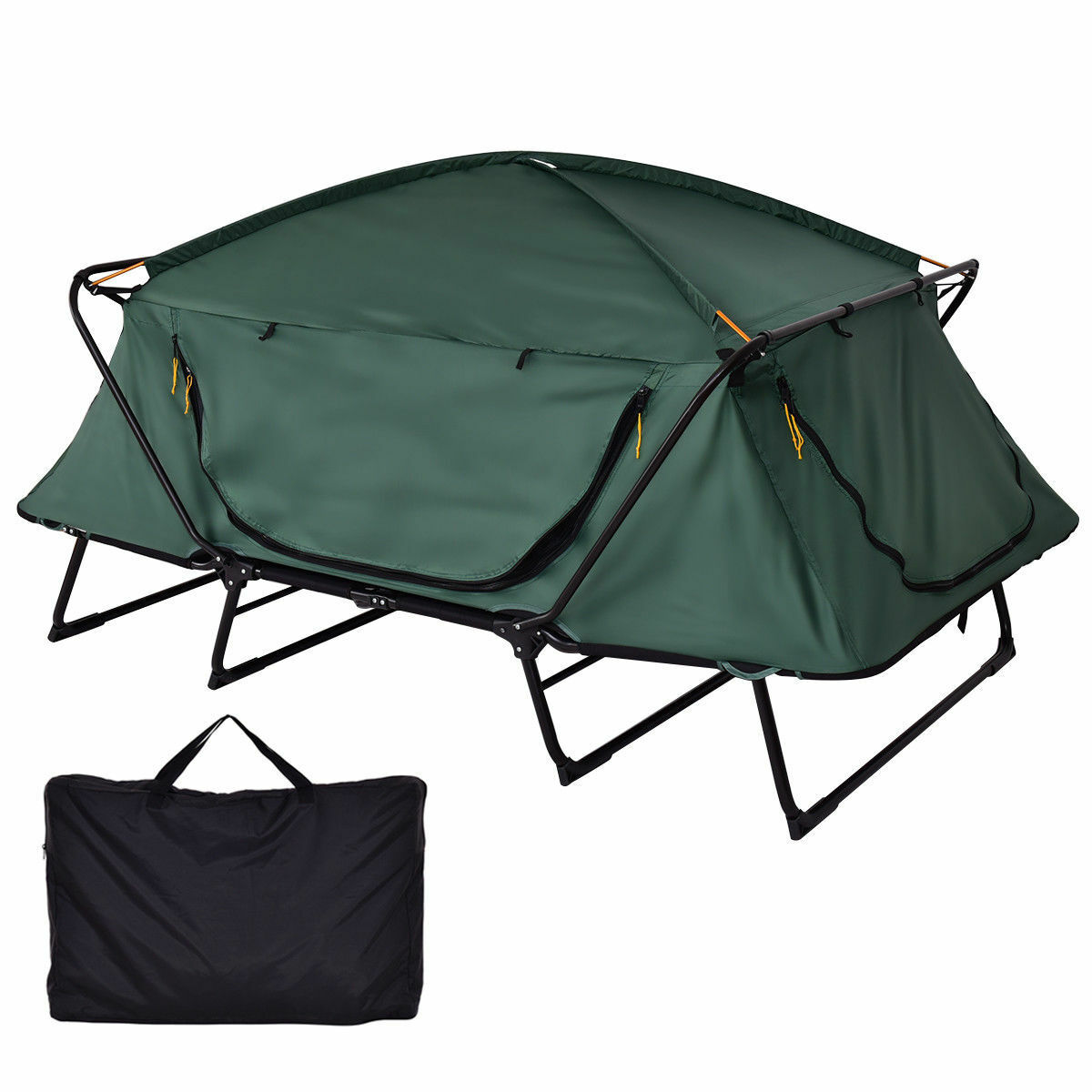 2 Person Elevated Raised Camping Tent Cot Bed Waterproof Hiking Folding Green