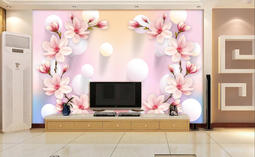 3D Cute Petals Balls 8 Wall Paper Murals Wall Print Wall Wallpaper Mural AU Kyra
