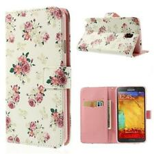 Schutz Tasche Hülle Flip Cover Samsung Galaxy Note 3 Neo N750 ROSEN WEIß ROSA 4A