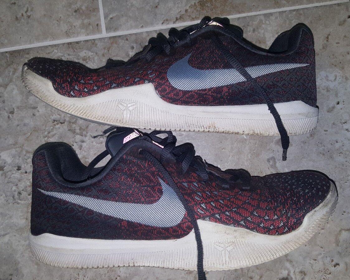 NIKE Kobe Mamba Instinct Shoes Anthracite-Red-Black 852473-006 Mens Size US8 UK7