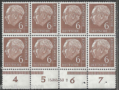 Deutschland Mi. 180 x Wv ** Heuss I im Block EOR E1 E2 EUR E3 E4 + HAN 1515254-2