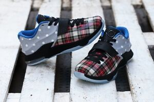 186a0dd664fd SIZE 11 USA Nike KD VII 7 EXT Canvas QS Plaid Polka Dots 726439 600 ...