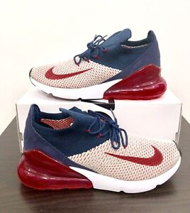 Details about Nike Womens Air Max 270 Flyknit Moon Particle Red Orbit AH6803 200 Size 11.5