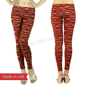 b47625f99675de Details about Winter Red Aztec Tribal Petite Slim Fitted Cute Leggings  Tight Yoga Pants USA