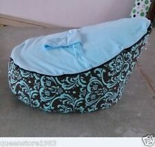 Canvas Bule Vine Baby infant Bean Bag Snuggle Bed Portable Seat Without Filling