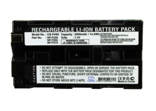 Li-ion Battery for Sony DCR-TR8000E CCD-TRV87 DCR-VX2000 MVC-FD83K HVR-Z1N NEW