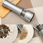 Kitchen Tool Stainless Steel Gourmet Electric Salt Pepper Mill Grinder W/ Light