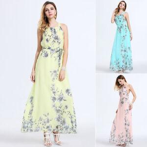 Women-039-s-Boho-Long-Maxi-Dress-Ladies-Party-Evening-Summer-Beach-Sundress