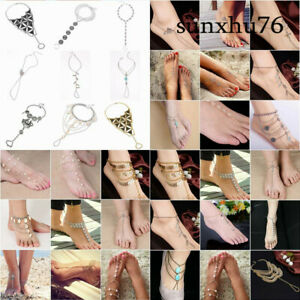 Barefoot-Sandal-Beach-Anklet-Foot-Chain-Jewelry-Ankle-Triangle-Bracelet-Boho